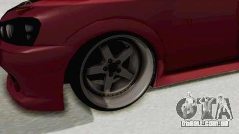 Peugeot 106 V2 RWD Greek Style para GTA San Andreas vista traseira