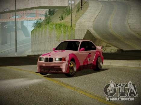 BMW M3 E36 Pinkie Pie para GTA San Andreas esquerda vista