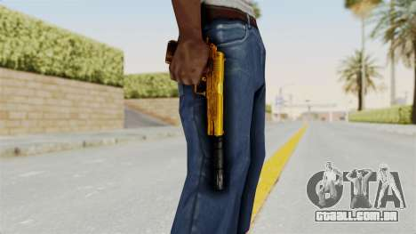 Silenced M1911 Gold para GTA San Andreas