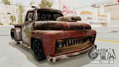 GTA 5 Slamvan Lowrider para GTA San Andreas vista traseira