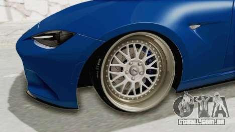 Mazda MX-5 Slammed para GTA San Andreas vista traseira