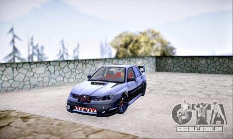 Subaru Impreza WRX STI Dark Knight para GTA San Andreas traseira esquerda vista
