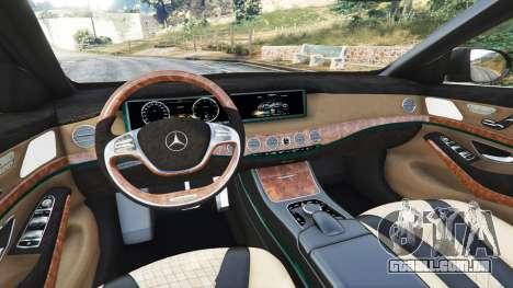 GTA 5 Mercedes-Benz S500 (W222) [michelin] v2.1 frente vista lateral direita