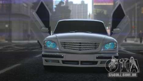 GAZ 31105 Tuning Aze Style para GTA 4 traseira esquerda vista