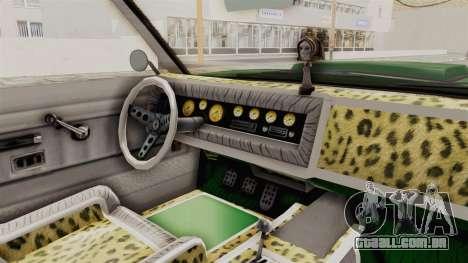 GTA 5 Declasse Sabre GT2 para GTA San Andreas vista interior