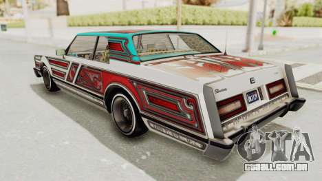 GTA 5 Dundreary Virgo Classic Custom v1 para GTA San Andreas vista inferior