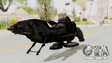 CoD Advanced Warfare - Hover Bike para GTA San Andreas traseira esquerda vista