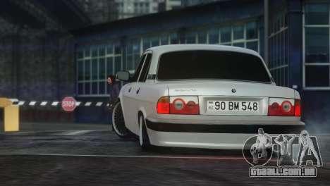 GAZ 31105 Tuning Aze Style para GTA 4 vista direita