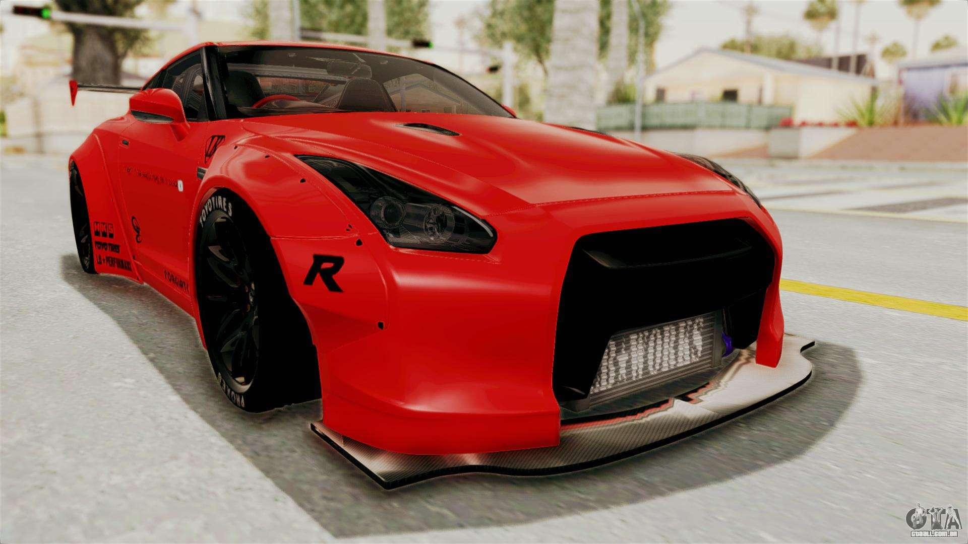Nissan Gt R R35 Liberty Walk Lb Performance V2 Para Gta San Andreas