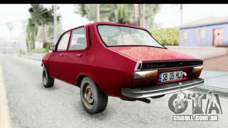 Dacia 1310 TLX v2 para GTA San Andreas traseira esquerda vista