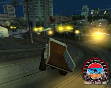 O velocímetro no estilo do armênio bandeira para GTA San Andreas segunda tela