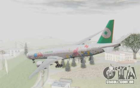 Boeing 777-300ER Eva Air v2 para GTA San Andreas vista direita