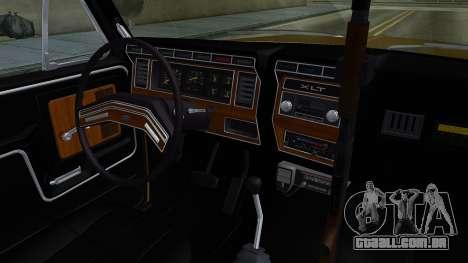 Ford Bronco 1982 Police IVF para GTA San Andreas vista interior