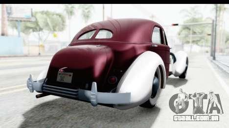 Cord 812 Charged Beverly Low Chrome para GTA San Andreas traseira esquerda vista