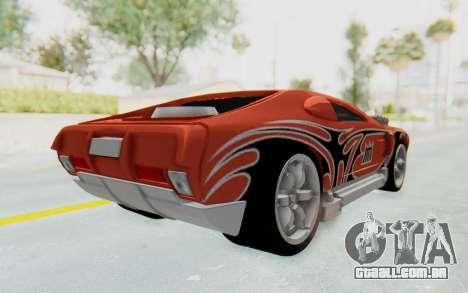 Hot Wheels AcceleRacers 2 para GTA San Andreas traseira esquerda vista