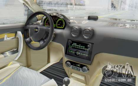 Chevrolet Aveo 2007 para GTA San Andreas vista interior