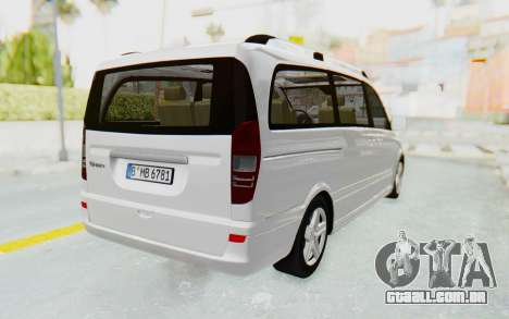 Mercedes-Benz Viano W639 2010 Long Version para GTA San Andreas vista direita