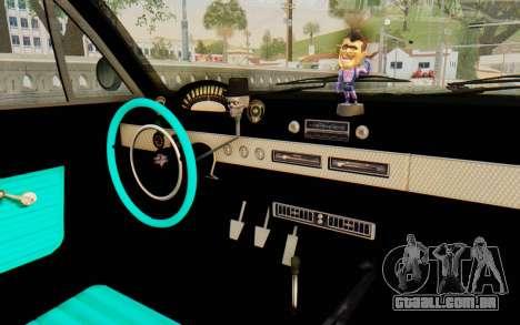 GTA 5 Declasse Voodoo SA Lights para GTA San Andreas vista traseira