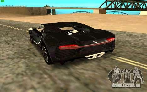 Bugatti Chiron para GTA San Andreas traseira esquerda vista