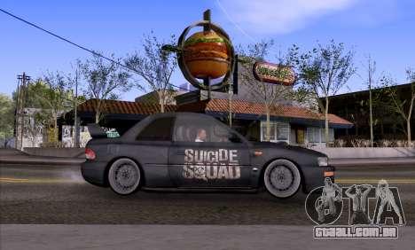Subaru impreza 22B (SUICIDE SQUAD) para GTA San Andreas esquerda vista