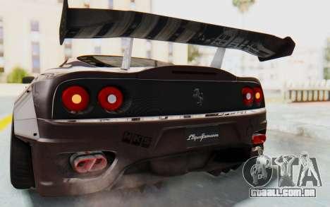 Ferrari 360 Modena Liberty Walk LB Perfomance v1 para GTA San Andreas vista inferior