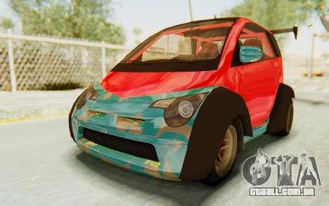GTA 5 Benefactor Panto Custom para GTA San Andreas vista interior