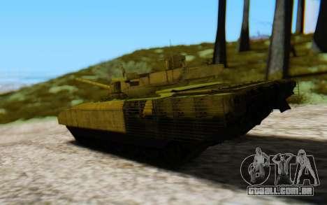 T-14 Armata Green para GTA San Andreas esquerda vista