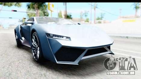 GTA 5 Pegassi Reaper v2 para GTA San Andreas traseira esquerda vista