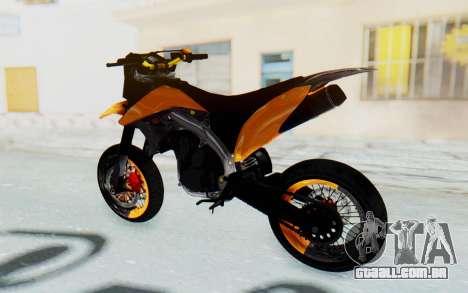 Kawasaki KLX150SD Tracker Supermoto para GTA San Andreas traseira esquerda vista