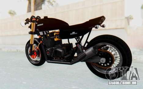 Kawasaki Z1000 Moghe Cafe Racer para GTA San Andreas traseira esquerda vista