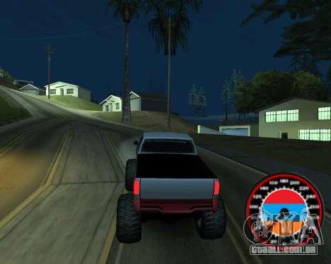 O velocímetro no estilo do armênio bandeira para GTA San Andreas