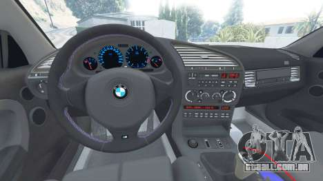 GTA 5 BMW M3 (E36) Street Custom [blue dials] v1.1 vista lateral direita