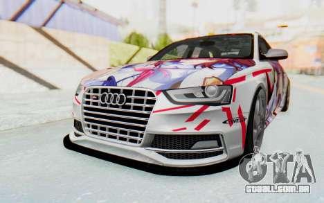 Audi S4 Avant Yurippe Angel Beats Itasha para GTA San Andreas traseira esquerda vista