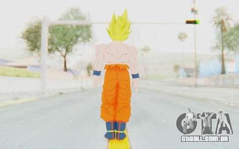 Dragon Ball Xenoverse Goku Shirtless SSJ para GTA San Andreas terceira tela