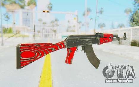 CS:GO - AK-47 Laminate Red para GTA San Andreas segunda tela
