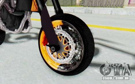 Kawasaki KLX150SD Tracker Supermoto para GTA San Andreas vista traseira