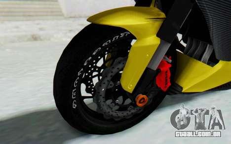 Kawasaki Ninja 250 Abs Streetrace v2 para GTA San Andreas vista traseira