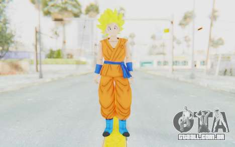 Dragon Ball Xenoverse Female Saiyan SSJ para GTA San Andreas segunda tela
