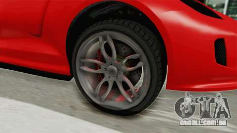 GTA 5 Grotti Bestia GTS v2 IVF para GTA San Andreas vista traseira