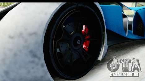 GTA 5 Grotti X80 Proto IVF para GTA San Andreas vista traseira