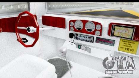 Unique V16 Fordor Taxi para GTA San Andreas vista interior