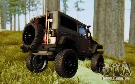 Jeep Wrangler Rubicon 2012 para GTA San Andreas esquerda vista
