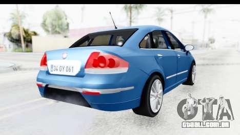 Fiat Linea 2014 Wheels para GTA San Andreas esquerda vista