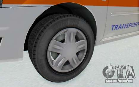 Dacia Logan Facelift Ambulanta para GTA San Andreas vista traseira