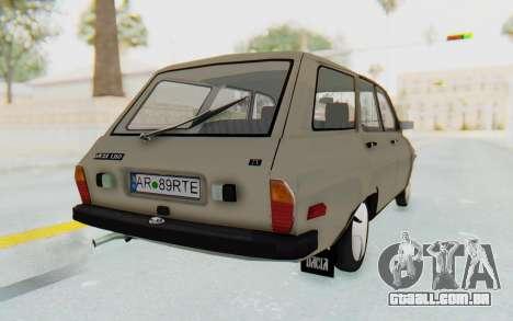 Dacia 1310 Break 1988 para GTA San Andreas traseira esquerda vista