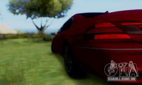 BMW 760i para GTA San Andreas traseira esquerda vista