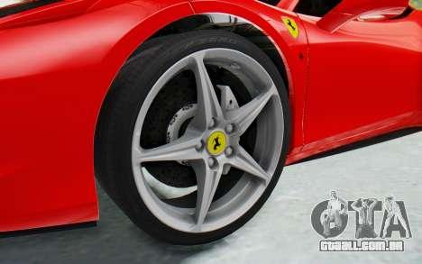 Ferrari 458 Italia F142 2010 para GTA San Andreas vista traseira