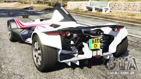 GTA 5 BAC Mono v2.0 traseira vista lateral esquerda
