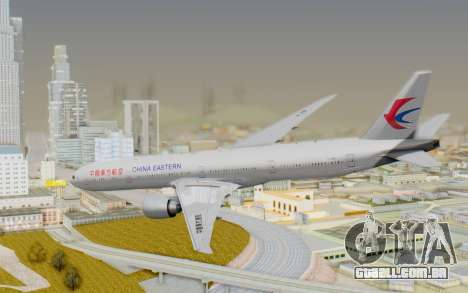 Boeing 777-300ER China Eastern Airlines para GTA San Andreas esquerda vista