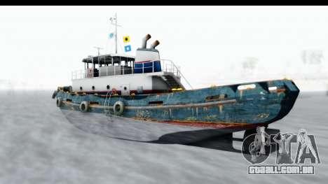 GTA 5 Buckingham Tug Boat v1 IVF para GTA San Andreas traseira esquerda vista